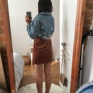 TOPSHOP CROPPED JEAN JACKET LIKE NEW